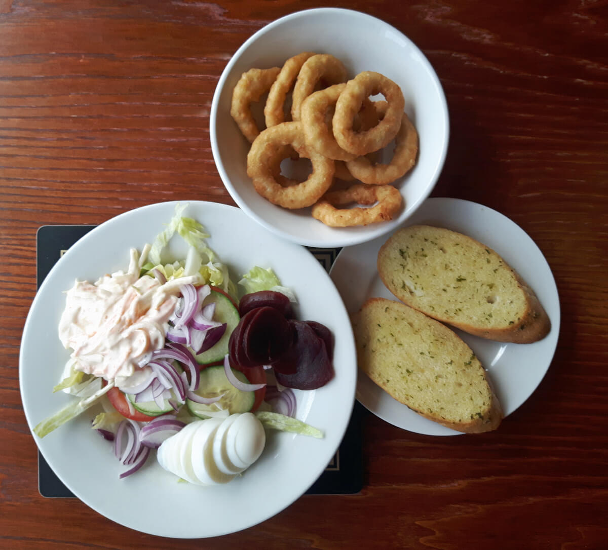 A selection of side dishes at The Nith